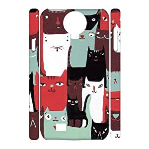 Cats Brand New 3D Cover Case for SamSung Galaxy S4 I9500,diy case cover ygtg-761981 WANGJING JINDA