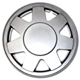 TuningPros WC-15-928-S 15-Inches-Silver Improved Hubcaps Wheel Skin Cover Set of 4