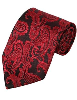 Eeleva Men's Paisley Prom Jacquard Woven Necktie Hanky Sets Neckties & Pocket Square