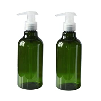 06681f40b184 Amazon.com: 2Pcs 250ml/8.4oz Empty Refillable PET Plastic Cosmetic ...