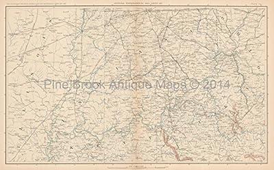 Kentucky Ohio Civil War Antique Map Original Kentucky Decor History Anniversary Housewarming Gift Id