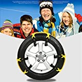 Nacome New 6PCS/12PCS Car Antiskid Chain,Winter Truck Car Snow Chain Tire Anti-skid Belt(Yellow) (1pcs)