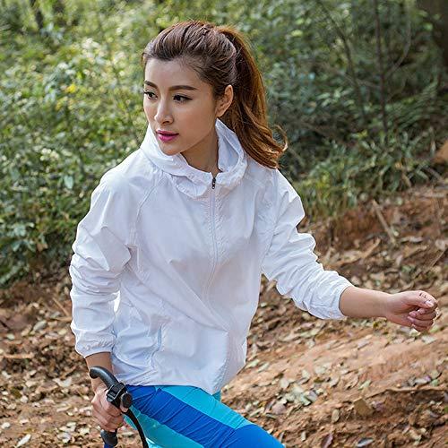 Hooded Waterproof Jacket White Kagool Women's Dihope Packaway Raincoat Lightweight Cagoule nXqf5wTx6
