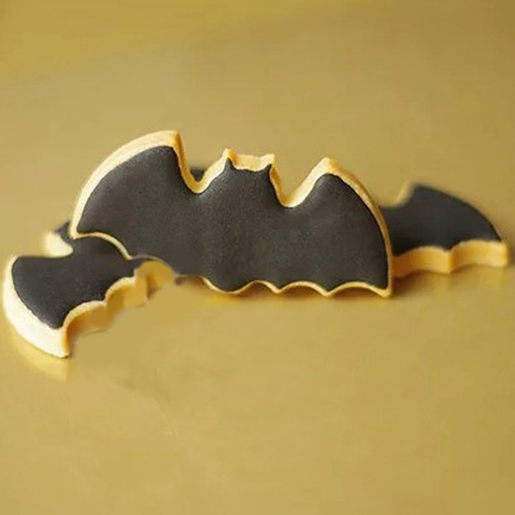 Fangfeen Palo de Halloween Forma de la Torta Cortador de la Galleta de la Torta del Molde del Molde Bat Herramientas de la Galleta del Molde DIY