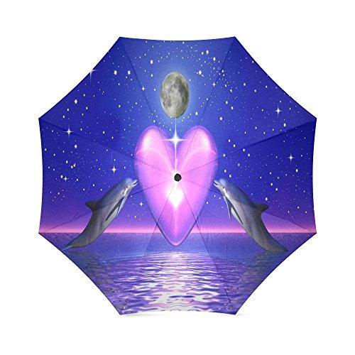 Dolphin Umbrella - Funny Dolphin Jumping Folding Windproof outdoor Travel Umbrella for Women