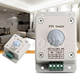 DC 12V-24V 8A Automatic Infrared PIR Motion Sensor Switch For LED lighting light