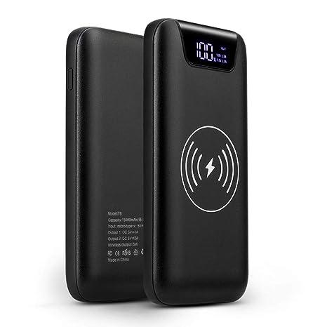 Sunydeal Powerbank Wireless 10000mAh, Batería Externa ...