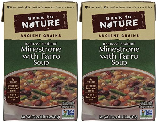 Back to Nature Soup - Minestrone with Farro - 17.4 oz - 2 (Farro Soup)