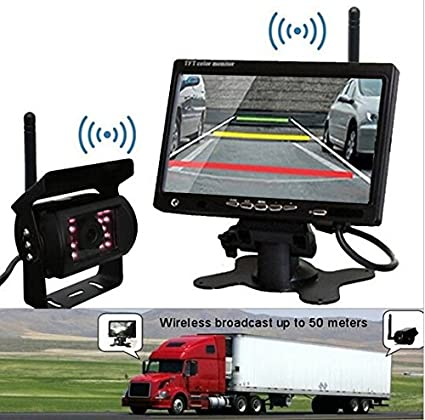 DC 12-24V Bus Lorry Car Rearview Backup Camera with free 6m Video Cable 7 inch High Resolution 800*480 LCD Monitor BW 7 inch Bus Lorry Truck Car Parking kit