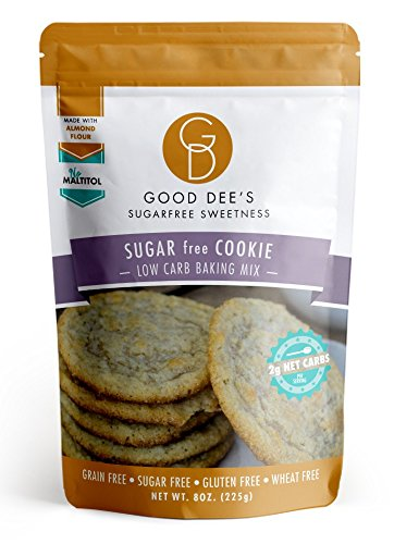 Good Dee's Sugar Free Cookie Mix - Grain Free, Gluten Free, Sugar Free, and Low Carb 8 OZ/225G Sugar Cookie Mix