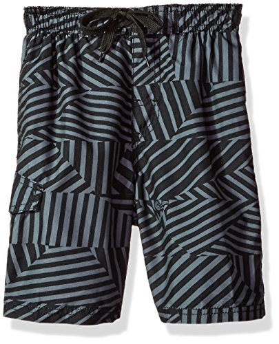 Kanu Surf Toddler Boys' Impact Quick Dry Beach Swim Trunk, Static Black, ()