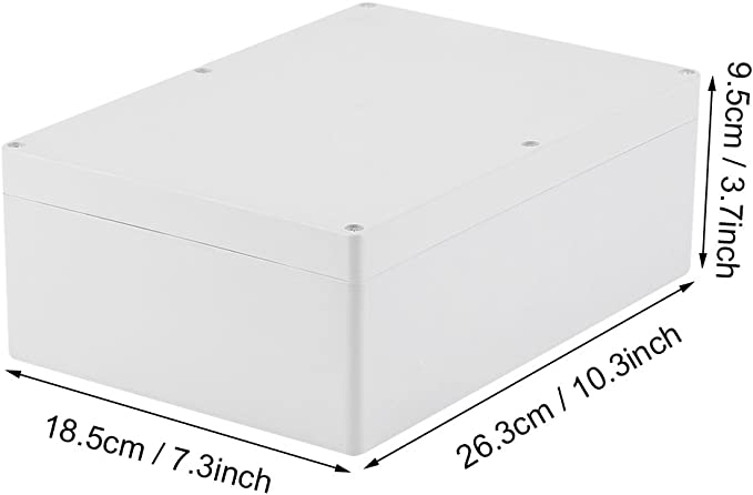 Instrument Gr/ö/ße 27 Geh/äuse f/ür elektronische Projekte wei/ß Senrise Abzweigdose Netzteile wasserdicht IP65 ABS elektrische Projekt-Box