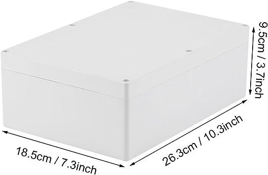 ABS Kunststoffgehäuse Abzweigdose Wasserdicht Abzweigkasten 263x185x95mm IP 65