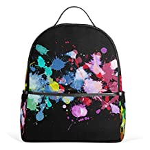 YZGO Casual Backpack Cavans Watercolor Painting Dots Daypacks Camouflage Stain Resistant Schoolbags Cool Trendy Gifts Backpacks