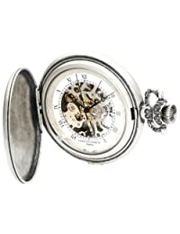 Charles-Hubert, Paris 3921 Classic Collection Antique Silver Plated Brass Mechanical Pocket Watch
