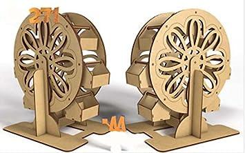 Kit para hacer noria de madera DM para candy bar mesa dulce. Manualidades con madera: Amazon.es: Hogar