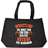 The Most Fun You Can Have Outside Wrestling - Tote Bag With Zip