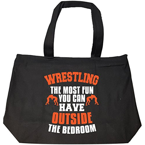The Most Fun You Can Have Outside Wrestling - Tote Bag With Zip by Sachetti Store