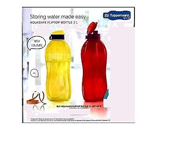 Nexxa Tupperware - Juego de 2 botellas de agua de plástico