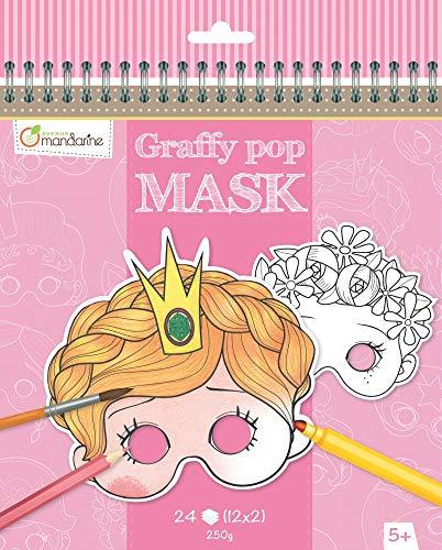 Avenue Mandarine Graffy Pop Mask Colouring Pack (Black/White)