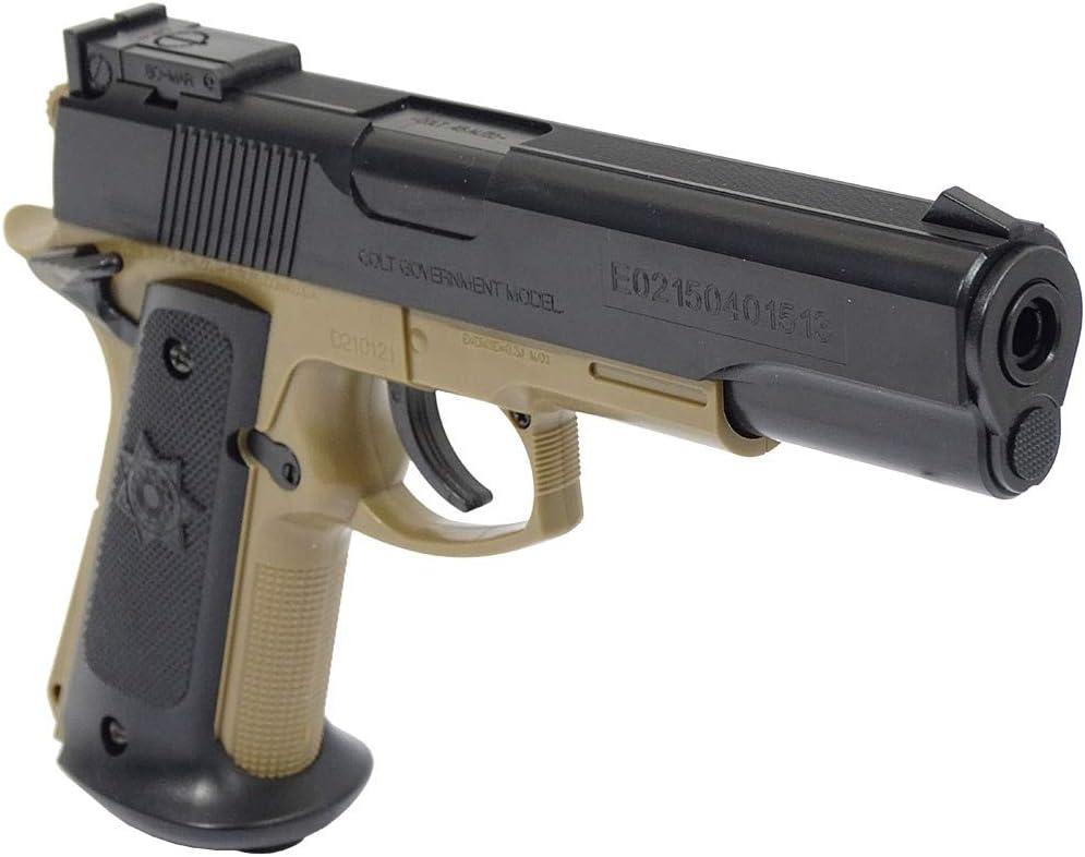 CyberGun Pistolal Colt MKIV Color Tan/Negro LIQUIDACION