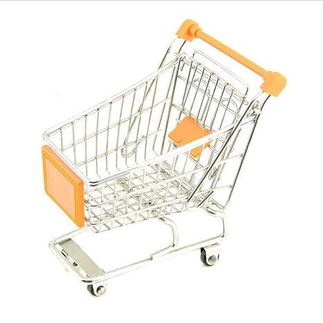 Toyvian Mini Carrito de la Compra Supermercado Carrito de Mano Pretend Play Toy para niños (