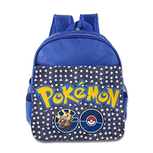 Ogbcom Kid¡®s Pokemon GO Logo School Backpacks/Bags For Unisex RoyalBlue