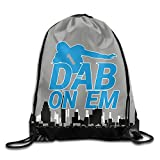 Cam Newton DAB ON EM Drawstring Backpack Gym Sack Bag 12.2'' X 10.2''