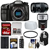 Cheap Sony Alpha A68 Digital SLR Camera Body with 70-300mm Lens + 64GB Card + Battery + Backpack + Flash + Filter + Kit
