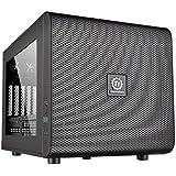 Thermaltake Core V21 Micro ATX Tower black Frontanschl. 2xUSB3.0 1xHD Audio Seitenfenster 5 Erweiterungsplaetze Gehaeuse stapelbar