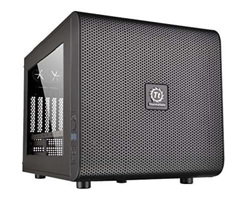 THERMALTAKE CORE V21 USB3.0 Micro-ATX SIDE WINDOW MESH STACKABLE CASE BLACK