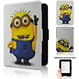 """Kindle, 6"""" Glare-free Touchscreen Display (7th Generation) Case - ACdream Ultra Slim New Desigh PU Leather Magnetic Smart Cover Case for Kindle, 6'' Glare-free Touchscreen Display - Cartoon Minions"""