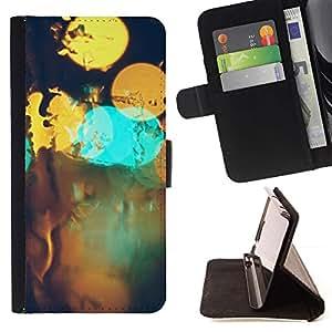 Momo Phone Case / Flip Funda de Cuero Case Cover - Resumen Bokeh;;;;;;;; - Samsung Galaxy S6