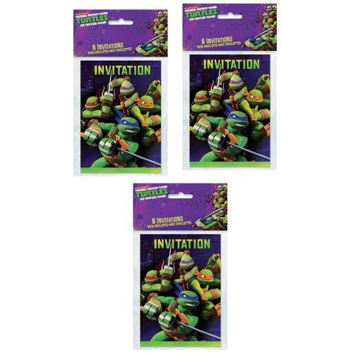 ninja turtle birthday invitations - 4