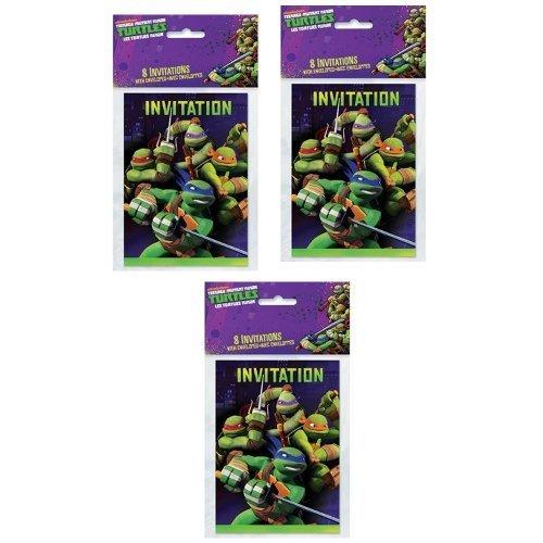 Teenage Mutant Ninja Turtles Invitations - TMNT Teenage Mutant Ninja Turtles Party Invitations - 24 Guests