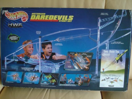 Mattel Hot Wheels Motorized Daredevils Stunt Set HWA Hot Wheels Air Planes (Set Wheels Hot Airplane)