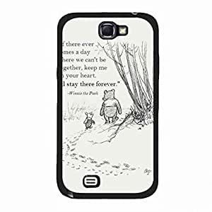 Winnie the Pooh Samsung Galaxy Note 2 Phone Case,Winnie the Pooh Phone Case Hard Plastic Case Cover For Samsung Galaxy Note 2