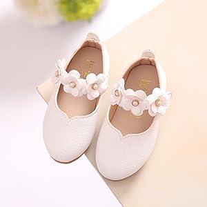 Tefamore Zapatos Bebe Casuales De la Flor del Moda Sólido Todo el Partido Fiesta Princesa de Baile Niños Chicas