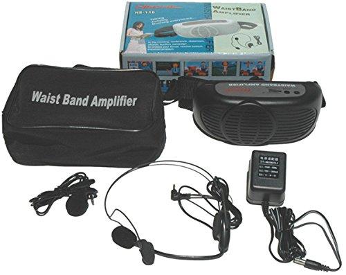 Hisonic HS116 7-watt Waistband Voice Amplifier, Black