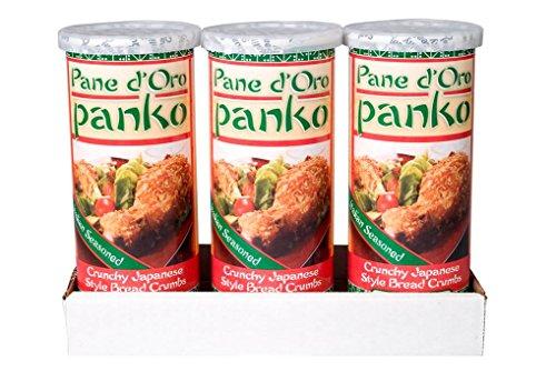 (Pane d'Oro Panko Bread Crumbs, Seasoned Italian, 6 oz, 3 count)