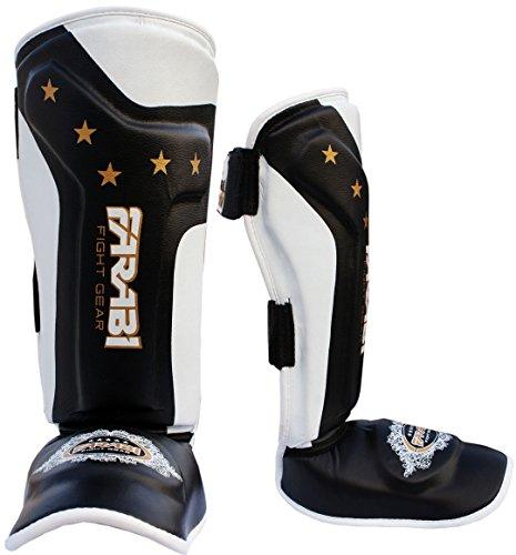 Farabi Kids shin pads shin instep Junior muay thai MMA shin pads shin instep leg and foot protector …