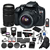 Canon EOS Rebel T6 Digital SLR Camera Bundle with EF-S 18-55mm f/3.5-5.6 IS II Lens + EF 75-300mm f/4-5.6 III Telephoto Zoom Lens + More