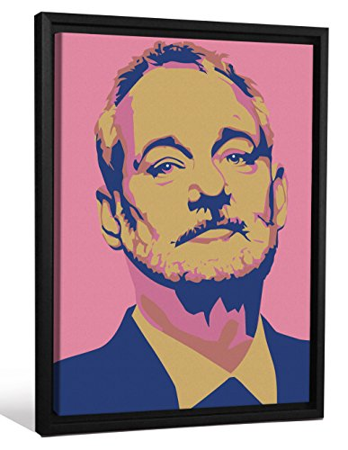 Cannonwalls FCNV2244 Framed Gallery Wrap Heavyweight Canvas Art Wall Decor (Bill Murray Pink Navy Andy Warhol at 26.375