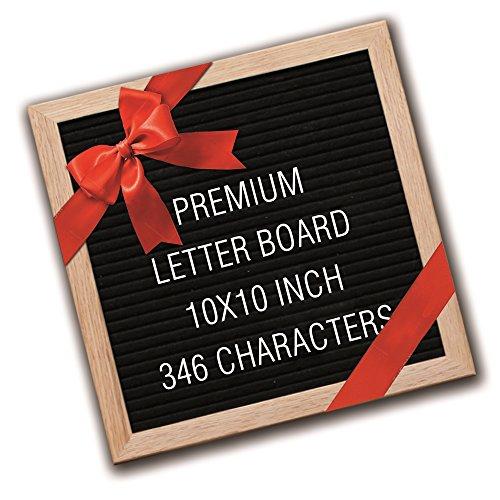 Letter Board - Felt Board - Felt Letter Board - Message Board Letter Sign - Letterboard 10x10 Wooden Letter Board Message Sign Letter Boards Stand The Black Decorative Wall Letter Board Set