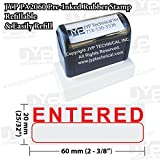 New JYP PA2060 Pre-Inked Rubber Stamp w. Entered & Writing Box