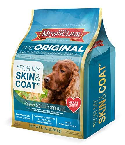 The Missing Link - Original All Natural Superfood Dog Supplement- Balanced Omega 3 & 6 to support Healthy Skin & Coat – Skin & Coat Formula – 5 lbs.