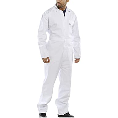 1a24d6a3397 British Designed White Boilersuit Coverall Overalls Workwear DIY Painting  Decorating  Amazon.co.uk  Clothing