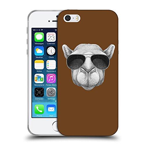 GoGoMobile Coque de Protection TPU Silicone Case pour // Q05460633 Chameau soleil Sépia // Apple iPhone 5 5S 5G SE