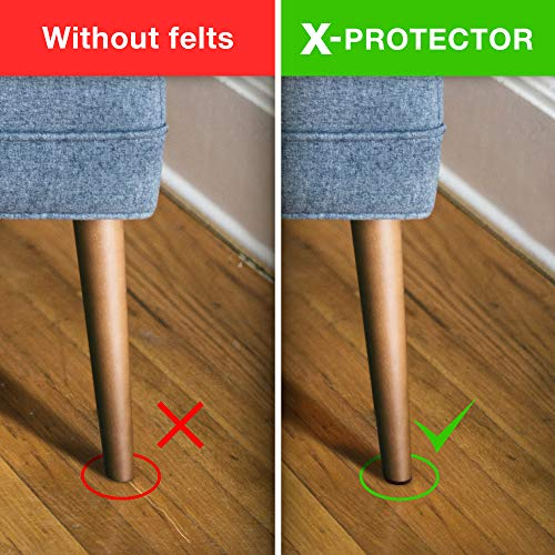 X-PROTECTOR Premium ULTRA LARGE Pack Felt Furniture Pads 181 piece! Felt Pads Furniture Feet ALL SIZES – Your Best Wood Floor Protectors. Protect Your Hardwood Flooring with 100% Satisfaction! by X-Protector (Image #3)