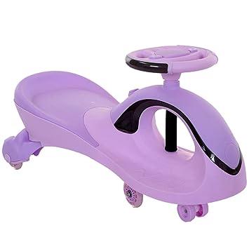 Bicicletas Triciclo para niños carros giratorios Carro Giratorio Andador con Luces de música Asiento Doble Peso